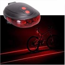 Laser Indicador De Carril Lampara Led Para Bicicleta +pilas