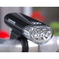 Luz Delantera Para Bicicleta 3 Leds Cateye Hl-el-135 Batería