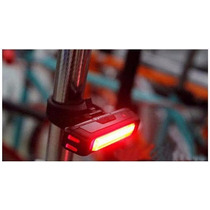Lampara Recargable Usb Luz Roja De Bicicleta Super Brillante