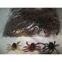 Gcg Lote Bolsa Insectos Mini Arañas Para Chiclera 100 Pzas
