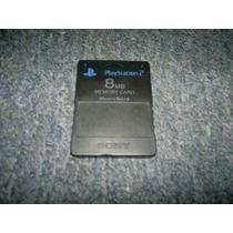 Memory Card Original De 8mb Para Play Station 2,color Negro.