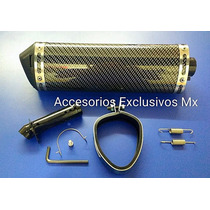 Escape Deportivo Pipa Exhaust Fz16 Pulsar 200ns Carrera Moto