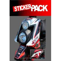 Calcamonias Sticker Pack Para Yamaha Bws 100 / 125