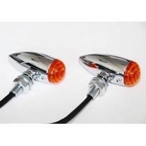 Direcciónal Mini Bullet Ambar Para Motocicleta Universal