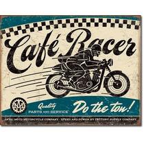 Poster Metalico Litografia Lamina Cafe Racer Parts And Servi