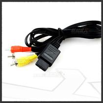 Cable Rca Av Para Super Nintendo Snes Gamecube Gc N64