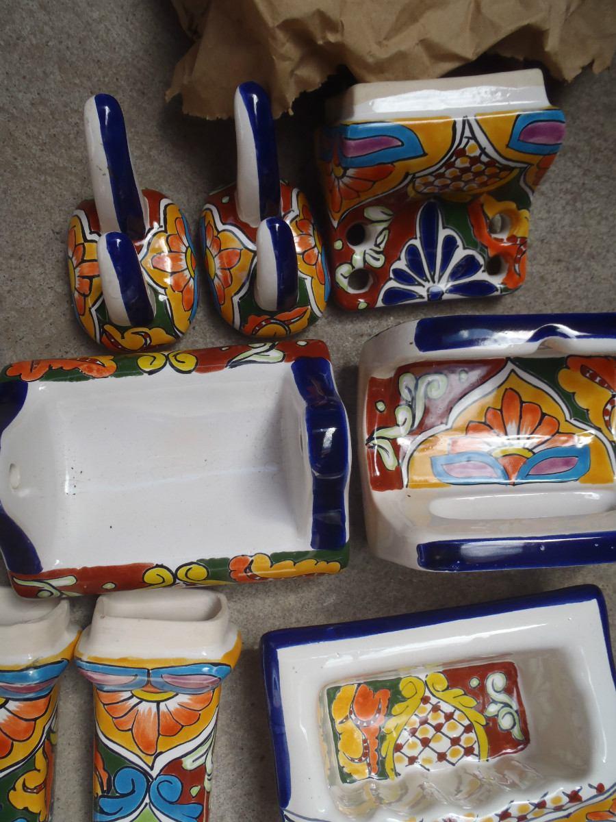 Accesorios Baño Amarillo:Accesorios Para Baño Tipo Talavera – $ 50000 en MercadoLibre