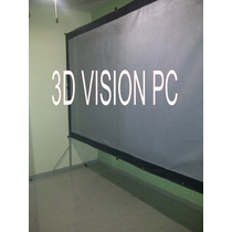 Pantalla De Proyeccion 3d 3.20 X 1.70 Mts Con Base Portatil
