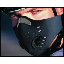 Máscara Wolfbike Anti Contaminación De Neopreno Con Filtro