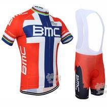 Uniforme De Ciclismo Bmc Jersey + Short Bib