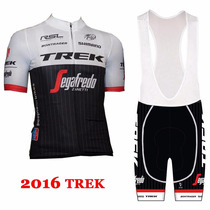 Uniforme Ciclismo Trek 2016, Jersey + Short Bib, Bici, Ruta