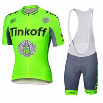 Uniforme Ciclismo Saxo Tinkoff 2016 Fluo Jersey + Short Bib