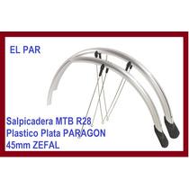 Salpicadera Mtb R28 Plastico Plata Paragon 45mm Zefal