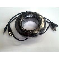 Cable Siames 20 Mts/ Conectores Bnc Cctv Energia Y Video