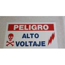 Letreros Peligró Cerca Eléctrica