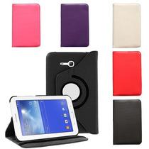 Funda Giratoria Samsung Galaxy Tab 3 Lite T110 + Mica + Styl