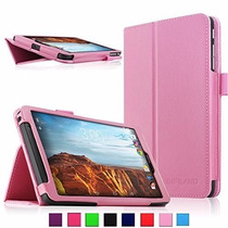 Verizon Elipsis 8, Infiland Folio Pu Slim Fit Funda Rosa