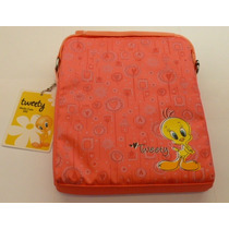 Funda Morral Mobo Tablet 10 Pulgadas Tweety Rosa