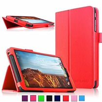 Verizon Elipsis 8, Infiland Folio Pu Slim Fit Funda Rojo