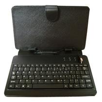 Funda Con Teclado Tablet 7 Pulgadas Micro Usb Estilo Piel
