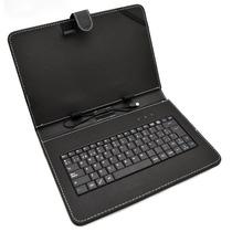 Funda Con Teclado Usb Para Tablet 10 Pulgadas Color Negro