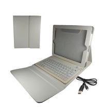 Funda De Piel Con Teclado Bluetooth Recargable Ipad 2 3 Y 4