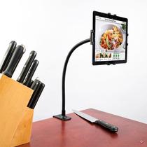 Cta Base Cuello De Cisne Con Prensa Para Tablet En Mesa Cama