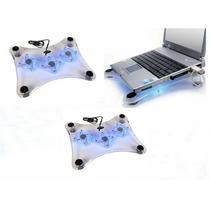 Base Enfriadora Usb Para Laptop 3 Ventiladores Xbox 360 Luz