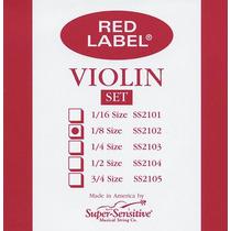 Cuerdas Para Violin Red Label (envio Gratis)