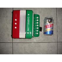 Mini Acordeon Infantil - Instrumento Musical 17cmx17cm Mty