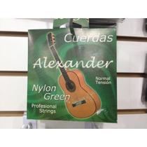Cuerdas Nylon Verde Para Guitarra Acústica Alexander
