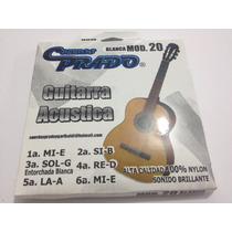 Juego De Cuerdas Nylon Blanco Para Guitarra Acústica Prado