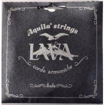 Aquila Lava Nylgut Negro Cuerdas Ukulele Soprano Europeas