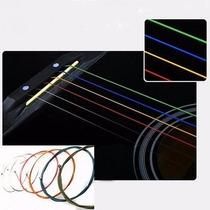 Cuerdas De Colores Para Guitarra Acústica.