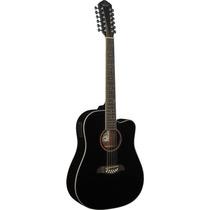 Guitarra Oscar Schmidt Od312ceb 12 Cuerdas Color Negro