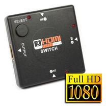 Switch Selector Hdmi 3 Puertos 1080p Conmutador Splitter