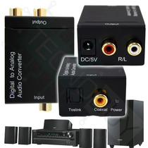 Toslink A Rca ,fibra Optica , Convertidor Para Hometheater