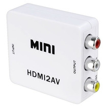 Mini Adaptador Convertidor Señal Hdmi - Rca Audio Y Video