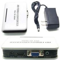 Adaptador Convertidor Vga A Hdmi 1080p Audio Video