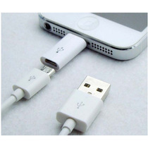 Adaptador Micro Usb A Lightning 8 Pines Certificado Apple