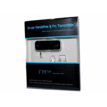 Transmisor De Audio Fm Conector 3.5mm Manoslibres Autos