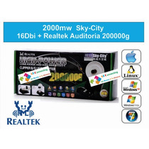 2000 Sky-city 16dbi + Realtek Auditoria 8187l Wifi