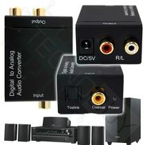 Toslink A Rca ,fibra Optica , Convertidor Para Hometheater
