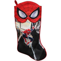 Bota Navideña De Spiderman Marvel Nueva De Importación.