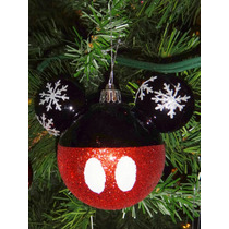 Navidad Esferas Decoración Navideña Mickey Mouse Disney