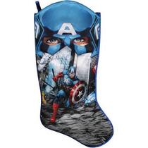 Bota Navideña Capitan America Avengers Nueva De Importación.