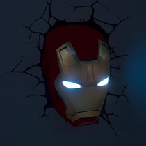 Lampara Para Pared 3d Cabeza De Iron Man Marvel Disney