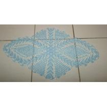 Carpeta Tejida A Mano 77 X 41 Cm Como Ovalada