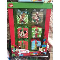 Esferas Mickey Y Mimi Mouse Navidad 6 Pzas Disney Original