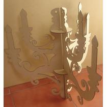 Candelero De Techo Candelabro De Mdf Adorno Ornamental